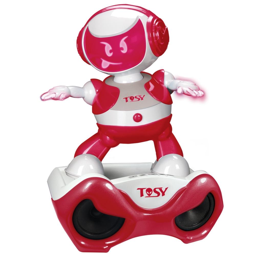 Robotel dansator cu stand Disco Robo Rosu