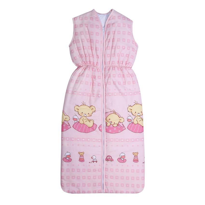Sac de dormit de vara 105 cm Superstar Bears Pink