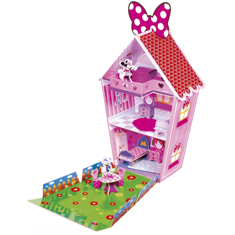 Set de construit din carton ecologic Disney Minnie