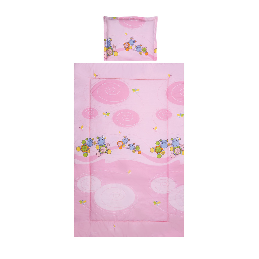 Set lenjerie pat 3 piese Hippo Pink