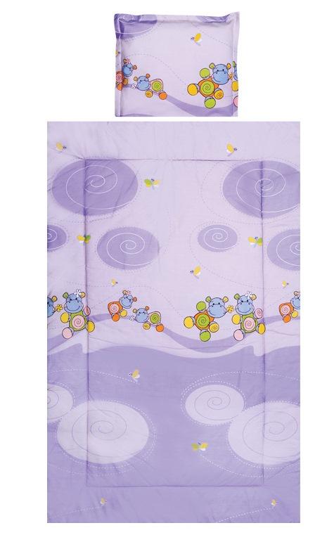 Set lenjerie pat 3 piese Hippo Violet