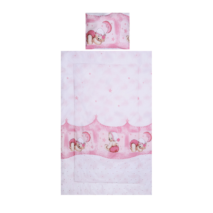 Set lenjerie pat 3 piese Sleepy Hat Pink