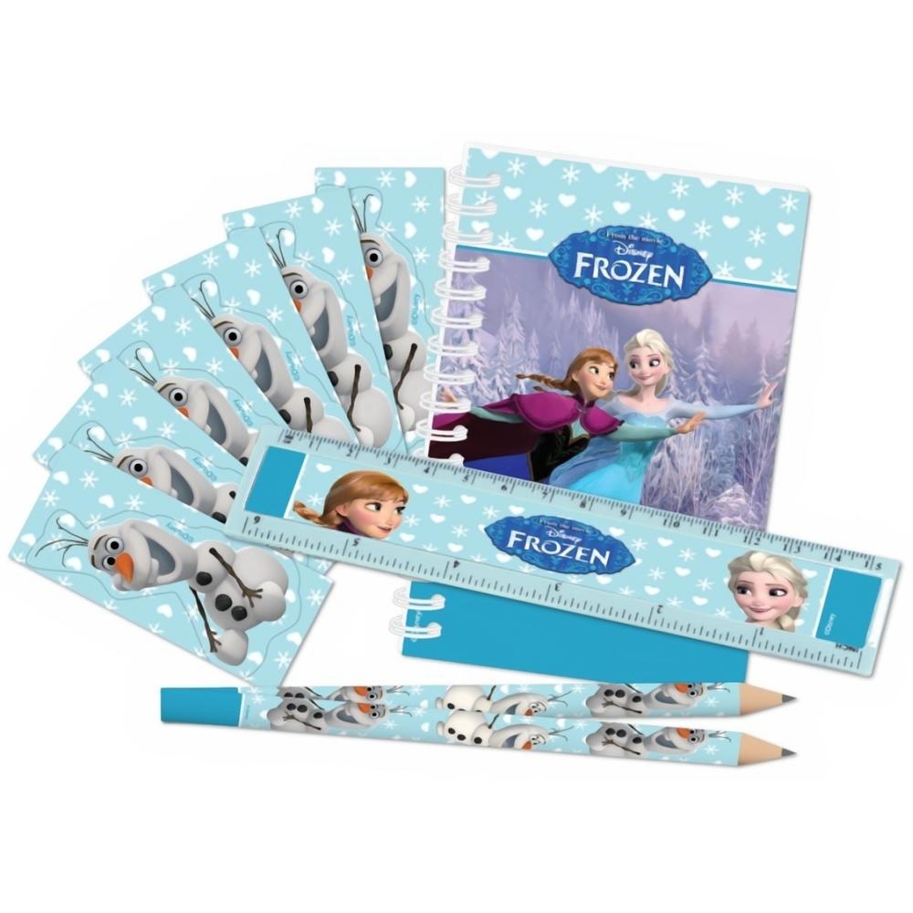 Set papetarie Frozen  (carnetel, creion, rigla, stickere), Amscan 999237, 20 piese