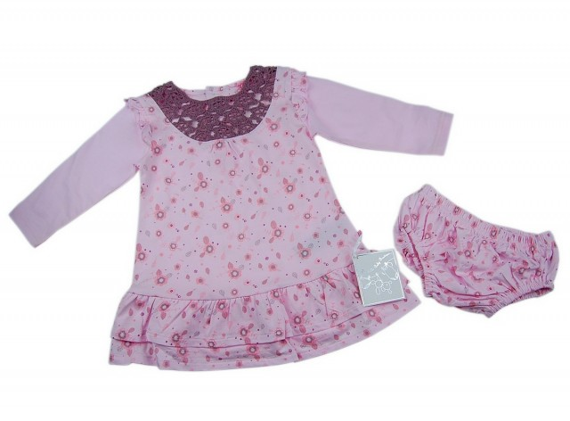 Set rochita si pantalonasi fetite (Masura 74 ( 6-9 luni ))