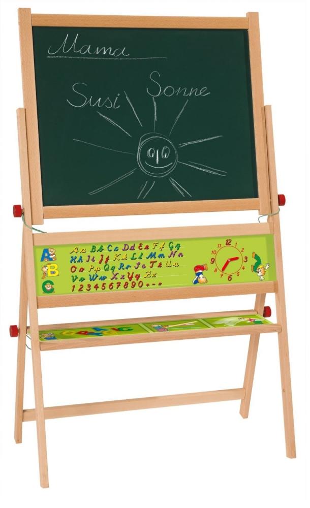 Tabla magnetica cu stativ de lemn 70x115 cm cu 43 de accesorii