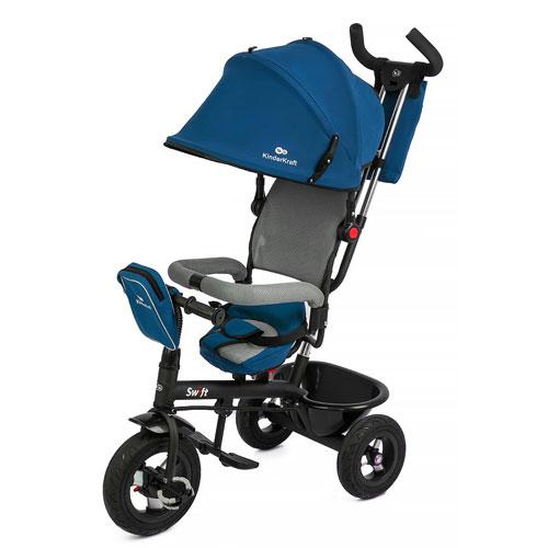 Tricicleta 6 In 1 Cu Scaun Rotativ Swift Blue