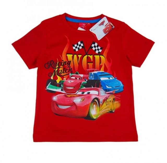 Tricou baieti Cars Fulger MCQueen (Masura 116 (5-6 ani))