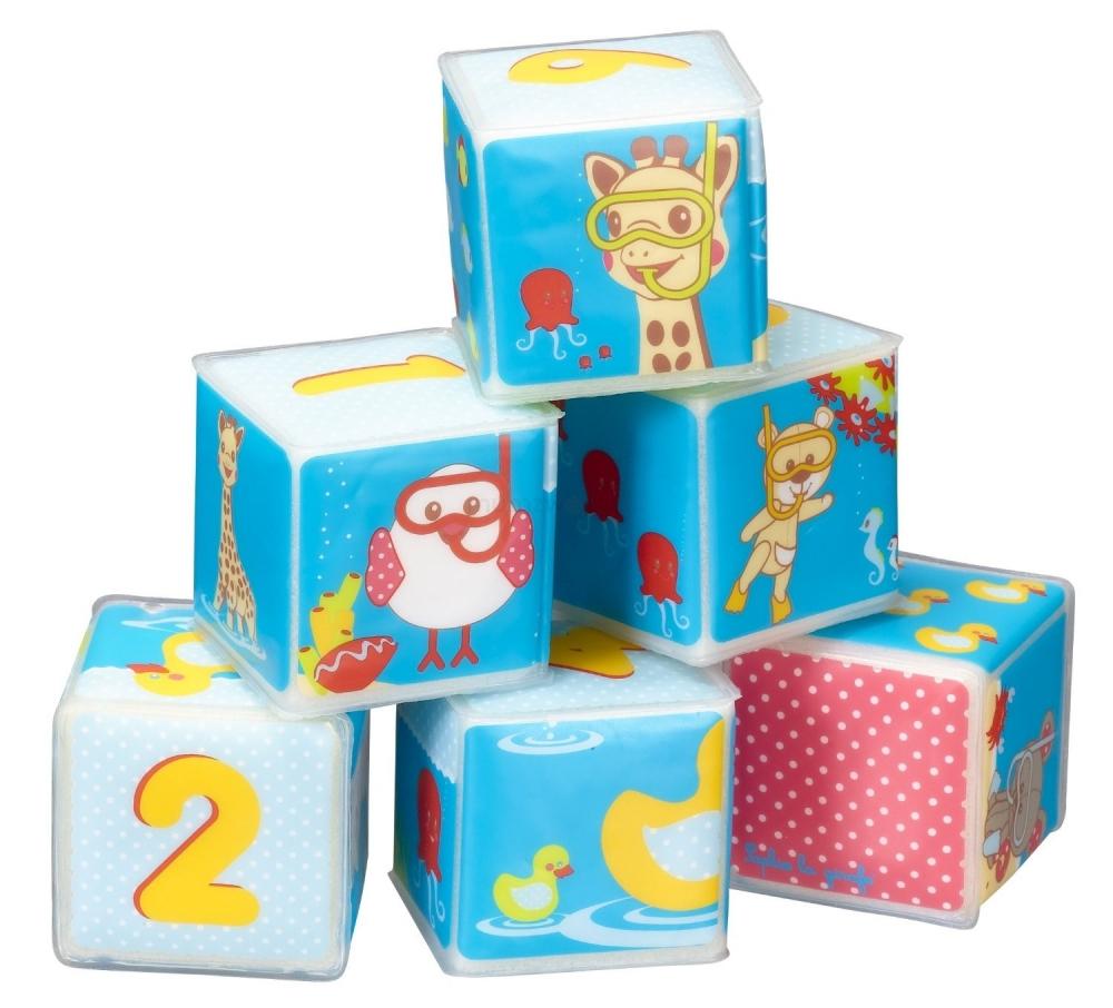 Set cuburi baie Girafa Sophie