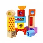 Cuburi de lemn cu sunet pentru construit
