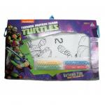 Trusa de colorat reutilizabila Testoasele Ninja