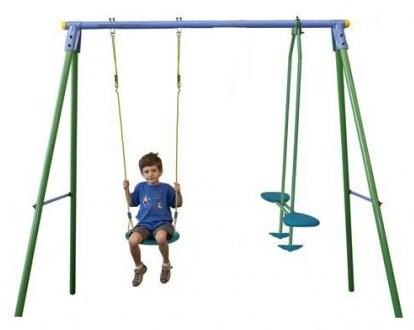 Ansamblu leagane Palau Leagan simplu si leagan balansoar pentru 3 copii