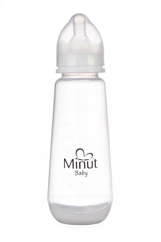 Biberon Minut Baby cu tetina silicon 3+, 250 ml