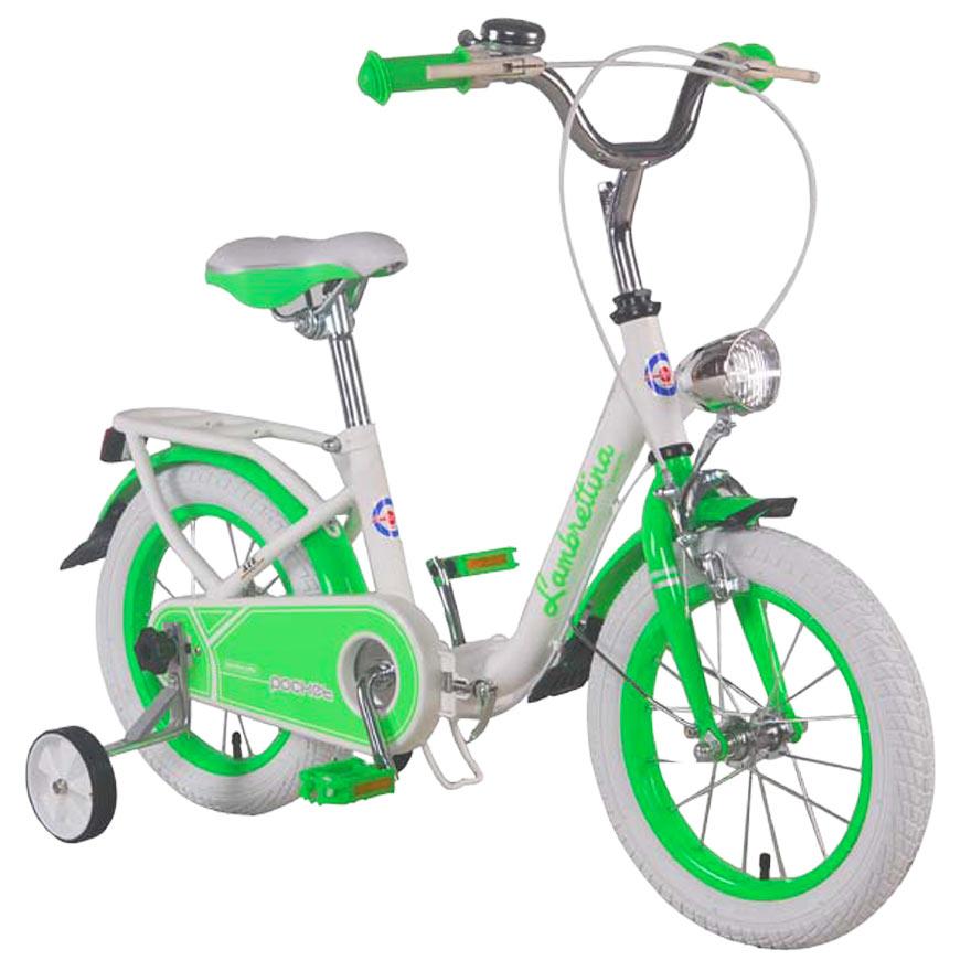 Bicicleta Copii Pliabila Lambrettina Green 14 Atk Bikes