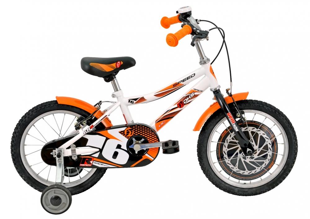 Bicicleta pentru copii Kid Racer Alba 16 inch din categoria La Plimbare de la DHS