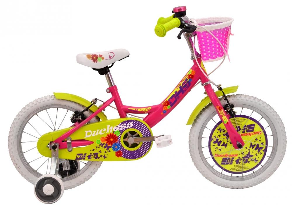 Bicicleta pentru fetite Duchess Roz 14 inch din categoria La Plimbare de la DHS