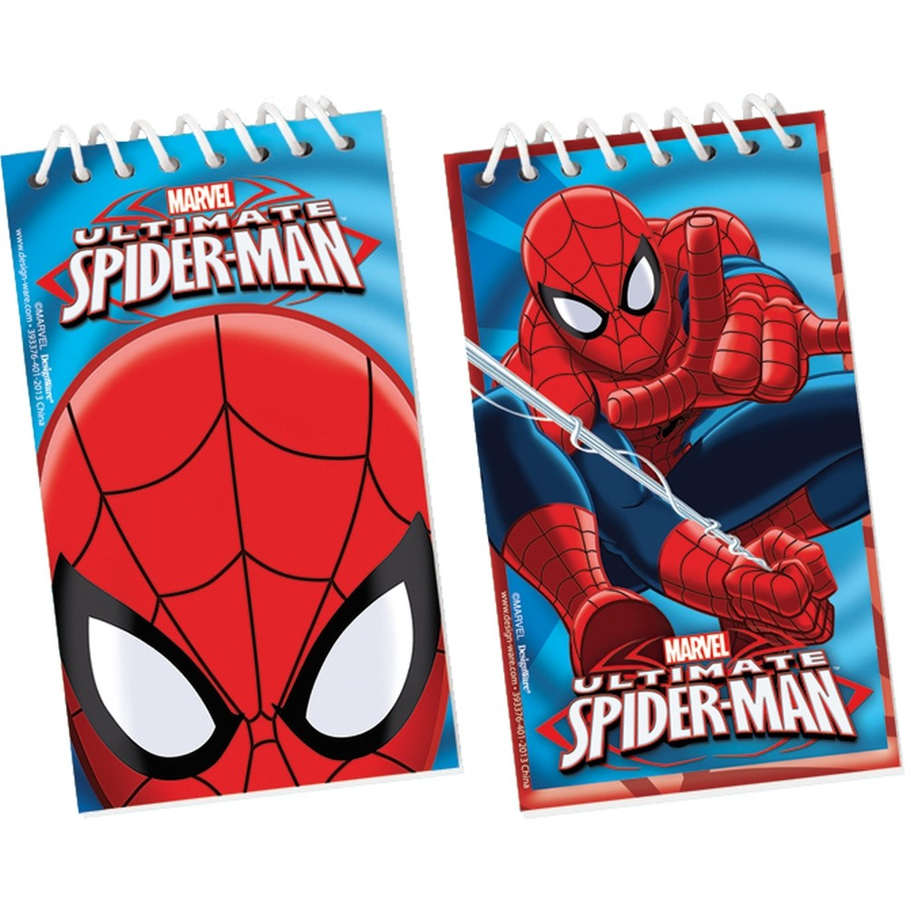 Carnetele Ultimate Spiderman - 5x10cm, Amscan 393376-55, Set 12 buc