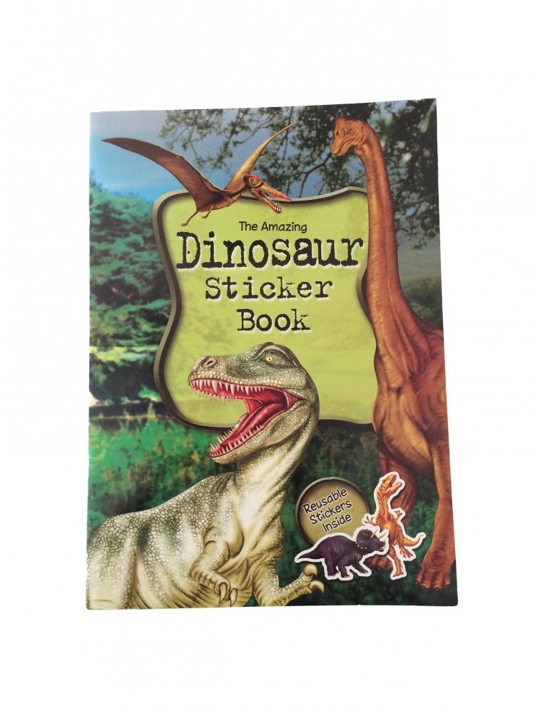 Carte cu stickere Dinosaur