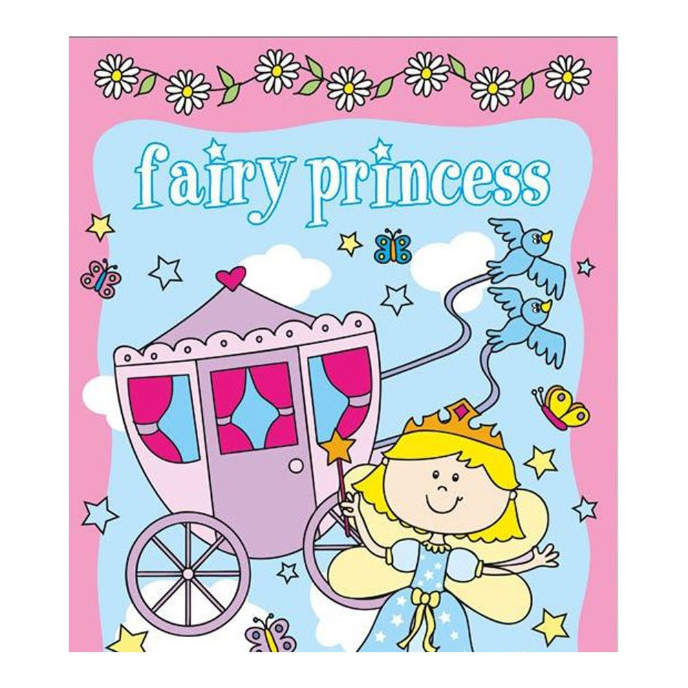 Carte de colorat si stickere Fairy Princess