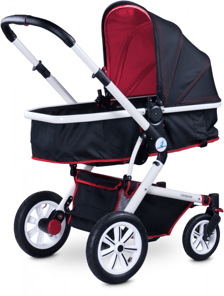 Carucior 2 in 1 Caretero Compass red