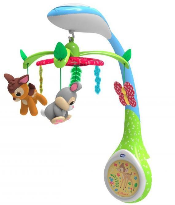 Carusel cu proiectie Chicco Bambi Disney 0 luni+
