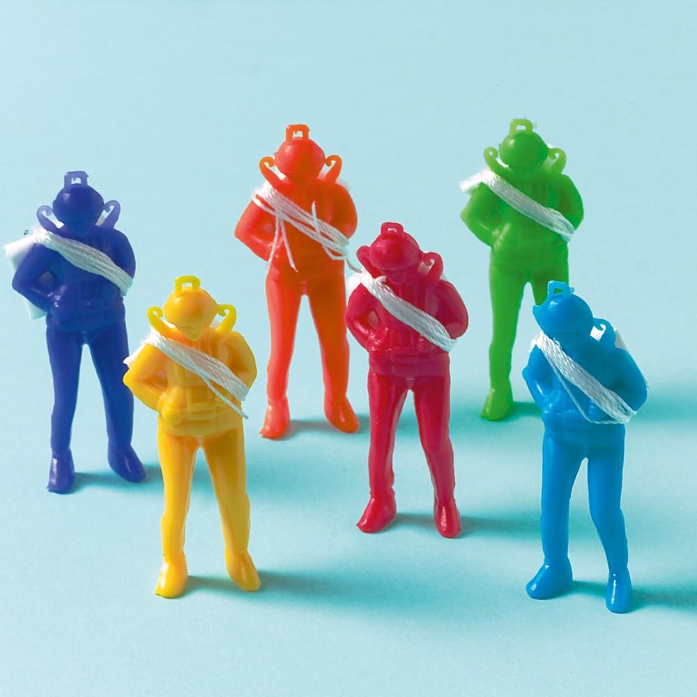 Figurine Parasutisti, Multicolore, Amscan INT390201, Set 12 buc