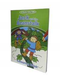 Carte de colorat Jack si vrejul de fasole