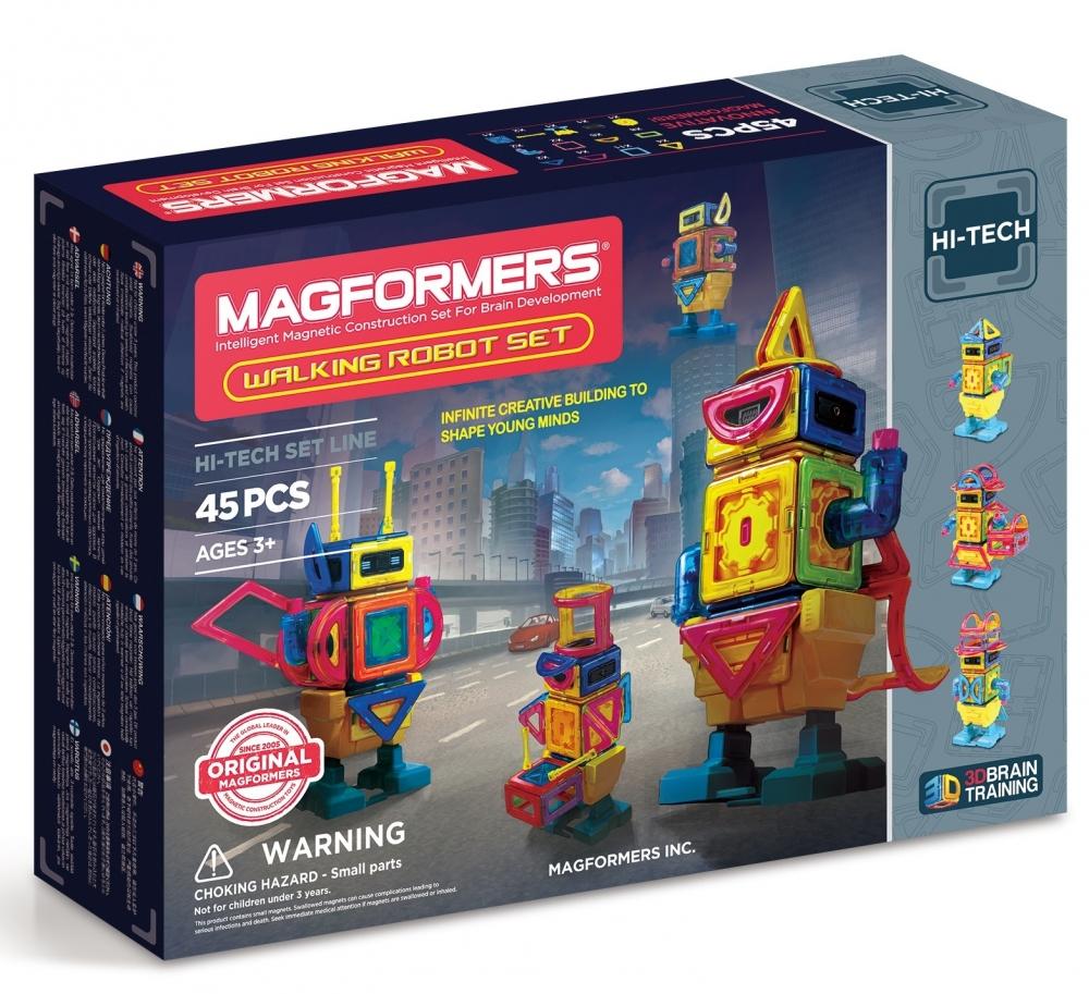 Joc de constructie magnetic MAGFORMERS - Hi-Tech - Roboti (45 piese)