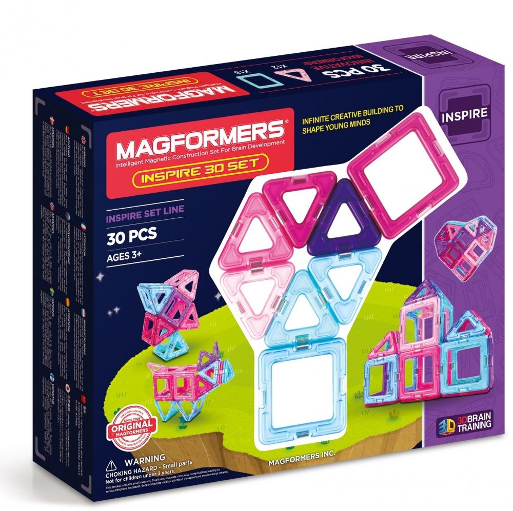 Joc de constructie magnetic MAGFORMERS - Inpire (30 piese)