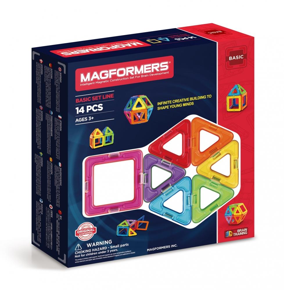 Joc de constructie magnetic MAGFORMERS - Standard (14 piese)