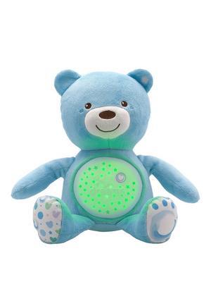Jucarie cu proiectie Chicco Ursuletul bebelus albastra 0luni+