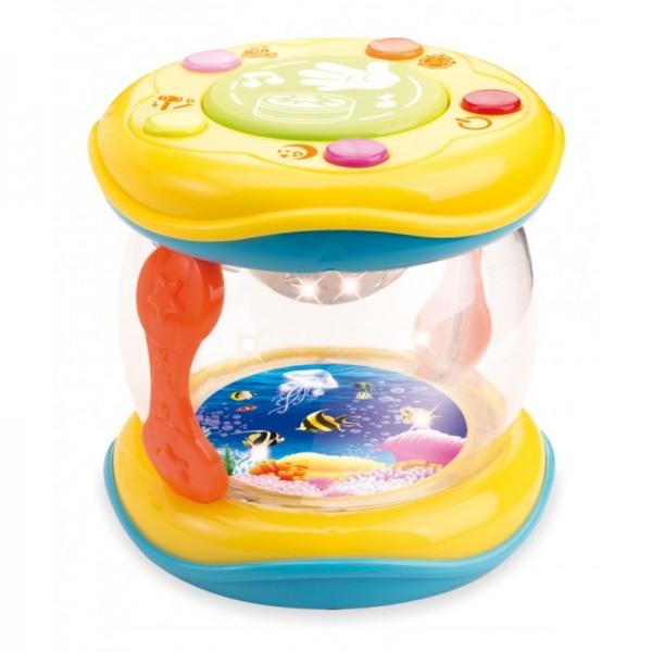 Jucarie Toba Baby Mix Cu Lumina Veghe Multicolora Si Pestisori Si Melodii Linistitioare Bebelusi