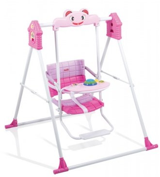 Leagan Copii Fun And Play Smile Fuchsia
