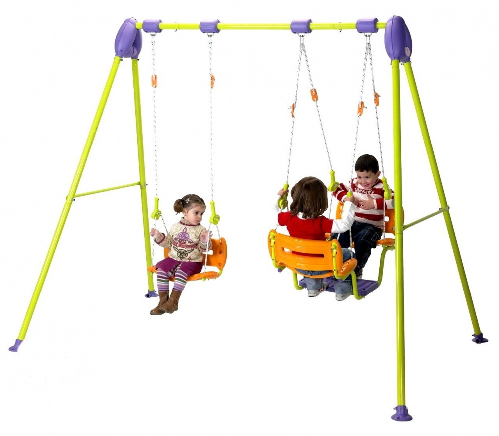 Leagan metalic pentru 3 copii Injusa Junior Activity