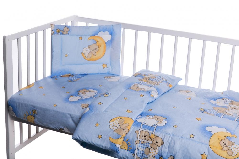 Lenjerie Patut Cu 3 Piese Ursuletul Somnoros Albastru