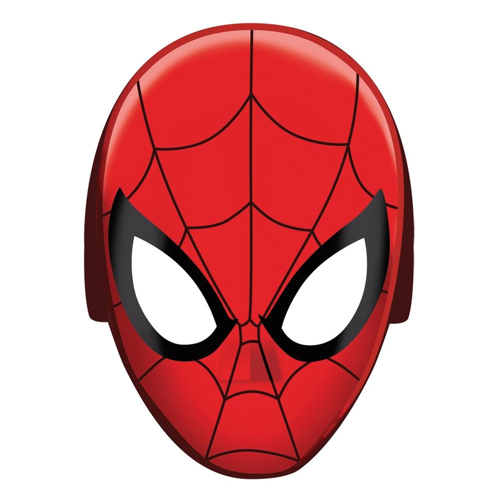 Masti Spiderman pentru copii - 20x15cm, Amscan RM360093-55, Set 8 buc