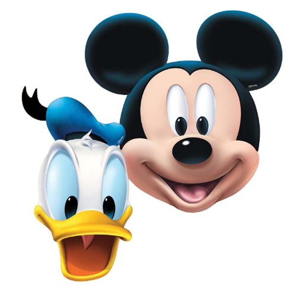 Masti copii pentru petrecere Mickey Mouse  Donald Duck, Amscan 994161, set 4 buc