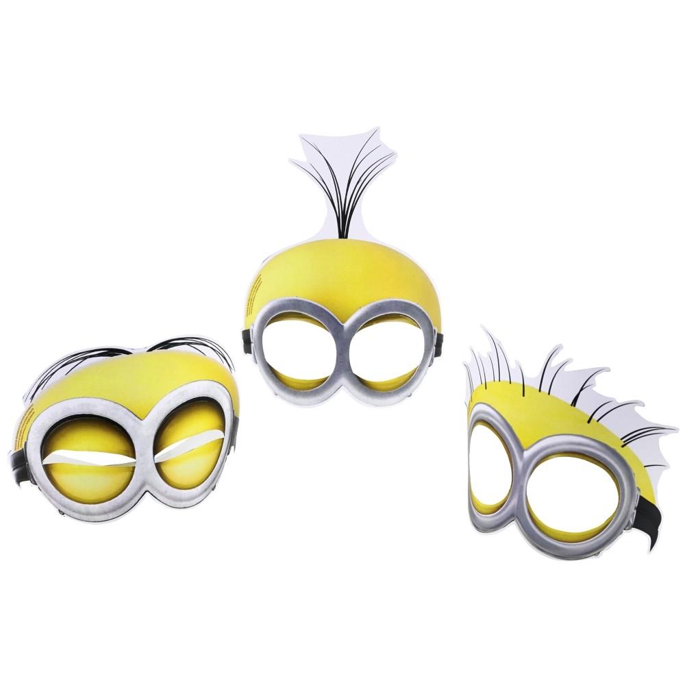 Masti de petrecere Minioni pentru copii, Amscan 998188, Set 6 buc