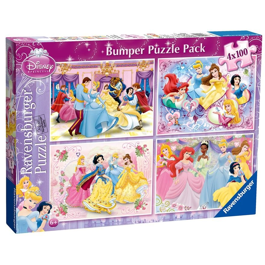 Puzzle Printesele Disney 4x100 Piese