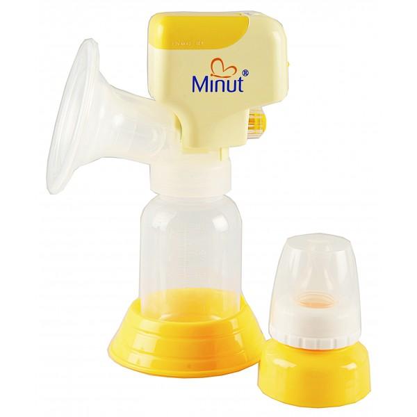 Pompa de san electrica Minut Baby cu biberon BPA Free