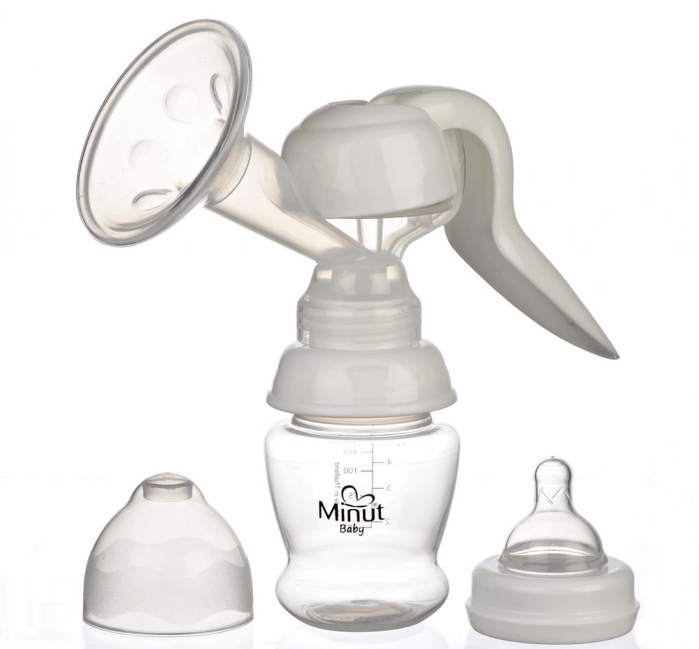 Pompa san Minut Baby manuala cu biberon si tetina BPA free