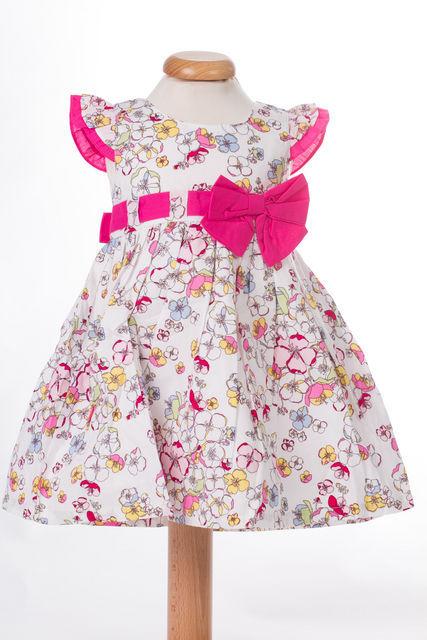 Rochita de fetite cu imprimeu floral colorat (Masura 68 (3-6 luni))
