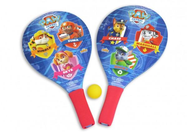 Set 2 palete pentru plaja Saica Paw Patrol din lemn cu minge inclusa pentru copii