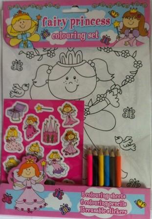 Set de colorat Fairy Princess