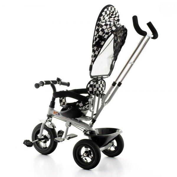 Tricicleta EURObaby T306 Alb cu Negru