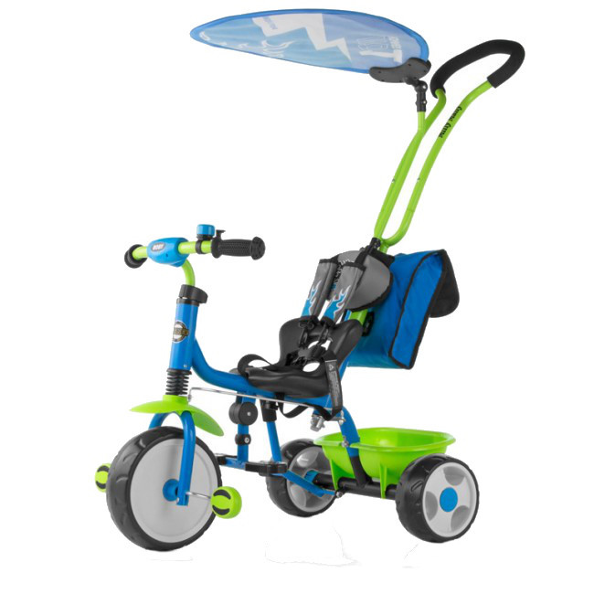 Tricicleta pentru copii Boby Deluxe Blue-Green