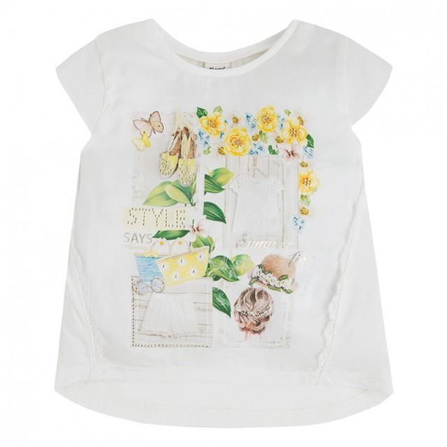 Tricou Mayoral cu floricele (Masura 122 (6-7 ani))