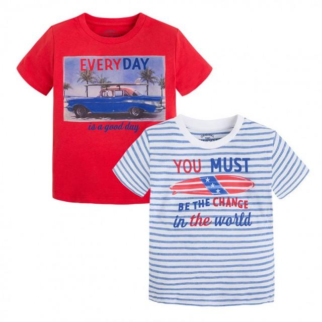 Tricou cu imprimeu Mayoral (Culoare rosu, Masura 128 (7-8 ani))