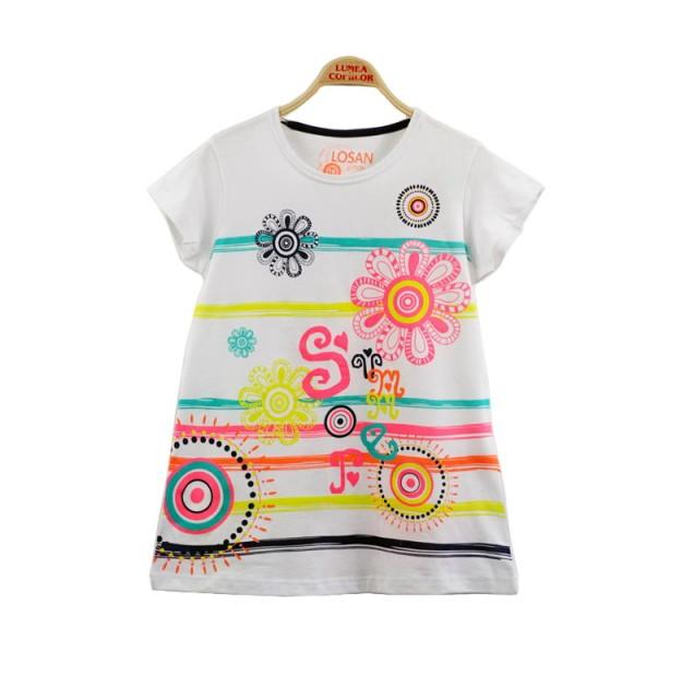 Tricou imprimeu floral (Masura 164 (13-14 ani))