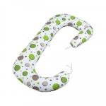Soft Plus Perna 3 in 1 pentru gravide si bebelusi Bulinute verzi