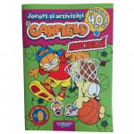 Carte cu activitati si stickere Garfield Marcheaza